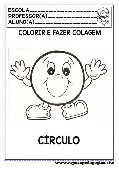 Espaco Pedagogico Atividades Figuras Ou Formas Geometricas Para Colorir E Formas Geometricas Educacao Infantil Atividade Alfabeto Educacao Infantil Atividades