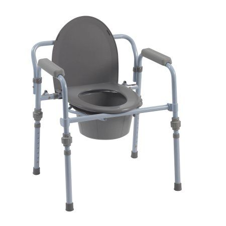 Drive Medical Folding Bedside Commode With Bucket And Splash Guard Bedside Commode Splash Guard Commode