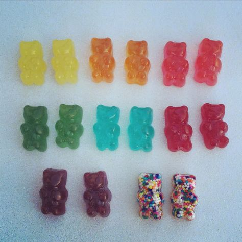 Gummy Bear Earrings Surgical Steel Posts by missfridaymourning