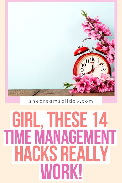 Time management tips that really work! These are time management hacks that I use in my online business and personal life daily. Find out how to use your time more effectively and productively. How to be more productive is at the core of time management. We all get the same hours in a day - make the most of them. #timemanagement #productivity