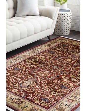 Traditional Jewel Maroon Handknotted Wool Rug Rug Happy Style House Ideas Carpet Decor Antiques Savings Rugs Classic Carpets White Walls Living Room