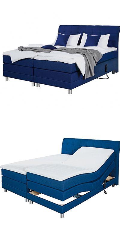 Boxspringbett Blau Elektrisch Verstellbar Textil 180x200 Boxspringbett Bett Boxspringbett 180
