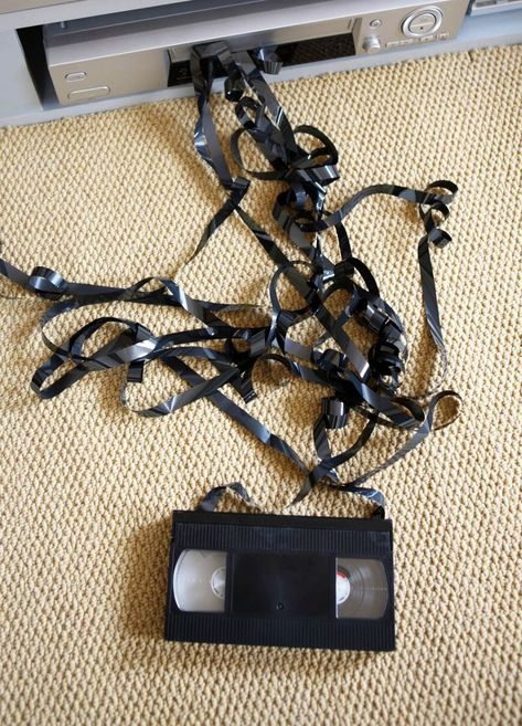 Only the 80s kids could understand the tragedy of loosing your favorite movie to the hungry vhs player!