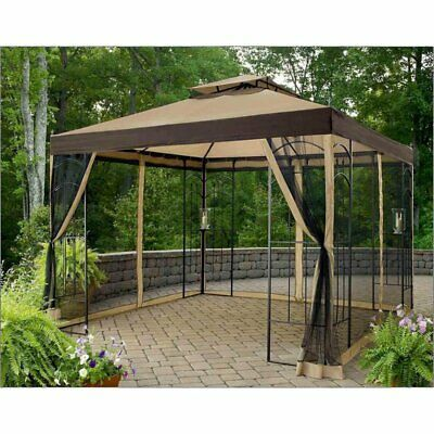 Details About Sunjoy Replacement Mosquito Netting For L Gz038pst 3a1 Winslow Gazebo Gazebo Canopy Gazebo Pergola