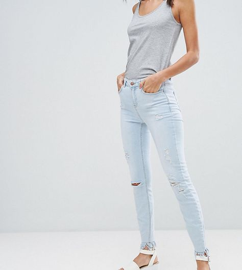 85b870a7fcf New Look Tall Bleach Rip Frayed Skinny Jeans | Products | Super ...