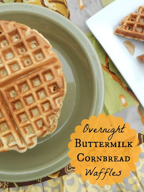 Overnight Buttermilk Cornbread Waffles Corn Bread Recipe Cornbread Waffles Amazing Cornbread