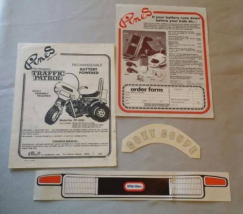 Order Form \ Operator Manual Traffic control Little Tikes Decal - vehicle order form