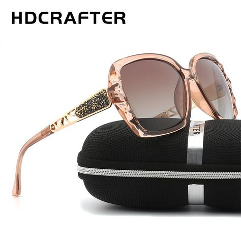 2e85ce3a381 New Arrival HDCRAFTER Luxury Brand Design Sunglasses oversized Women  Polarized sun glasses high quality Female Prismatic Eyewear