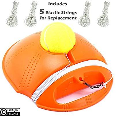 Amazon Com By Rh Tennis Trainer Rebounder Ball Cemented Baseboard With Rope Solo Equipment Practice Training Aid Serv Rebounding Sports Tape Tennis Trainer