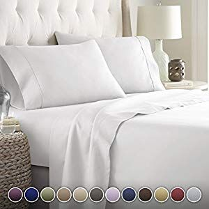 Hotel Luxury Bed Sheets Set Top Quality Softest Bedding 1800