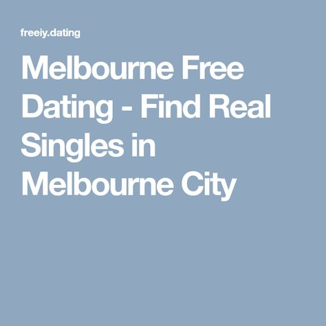 Kostenlose online-dating-sites melbourne