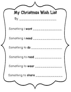 My Christmas Wish List Writing Templates Needs And Wants Christmas List Kids Christmas List Christmas Wishes Christmas Gifts For Kids
