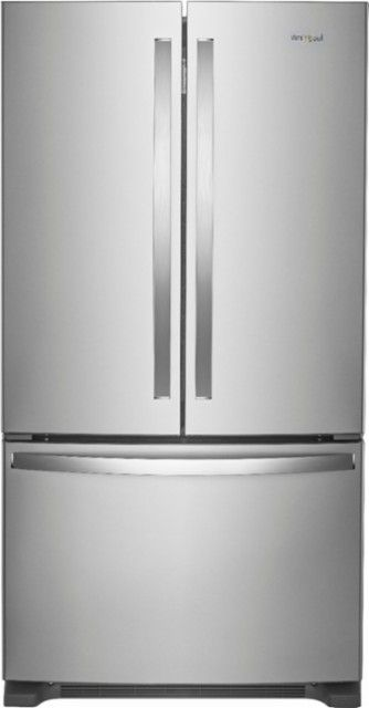 Whirlpool 25 2 Cu Ft French Door Refrigerator With Internal Water Dispenser Stainless Steel Wrf535swhz Best Buy French Door Refrigerator French Refrigerator French Doors