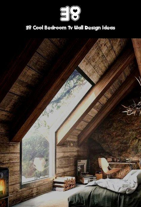 38 Cool Bedroom Tv Wall Design Ideas#bedroom #cool #design #ideas #wall