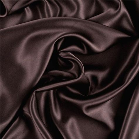MATERIAL : 100% Silk BRAND : Fashion Fabrics Club COLOR : Brown FIBER CONTENT : 100% Silk CALIFORNIA PROP 65 WARNING : FalseFashion Fabrics ClubDark Brown Silk CharmeuseSolid Dark Brown Silk Charmeuse Fabric This high quality charmeuse is made with a satin weave which is soft, yet supple and drapes beautifully. The front side of the fabric has a satin finish, lustrous and reflective, and the back has a dull finish. 19MM Fabric is reorderable as needed Please allow 3-5 business days before it shi Black And Brown, Dark Brown, Brown Brown, Brown Aesthetic, Silk Charmeuse, Aesthetic Backgrounds, Fashion Fabric, Dark Colors, Couture