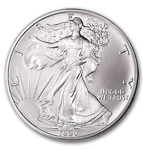 1990 1 Oz Silver American Eagle Coin Eagle Coin Silver Eagle Coins Silver Bullion Coins