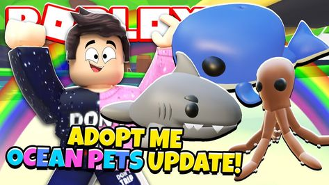 All New Ocean Pets In Adopt Me New Adopt Me Daily Login Pet Rewards Update Roblox In 2020 Roblox Adoption Roblox Gifts