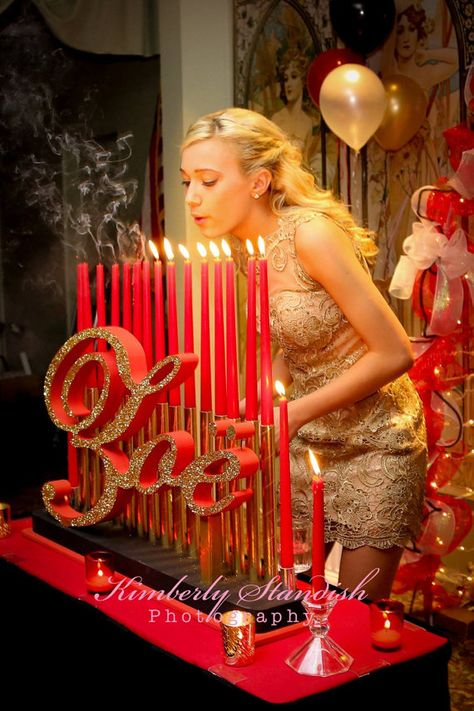 Quinceanera /& Mitzvah Candle Lighting Centerpiece,Custom 3D name styrofoam,foam letters sweet 15 Gatsby theme Big Candelabra Sweet 16