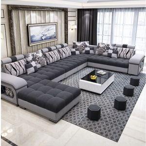 Factory Wholesale Fabric U Shaped Sectional Sofa Modern European