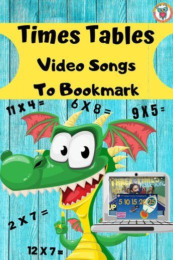 Learning Multiplication Facts, Math Facts, Teaching Math, Math Fractions, Maths, Math For Kids, Fun Math, Math Activities, Math Songs