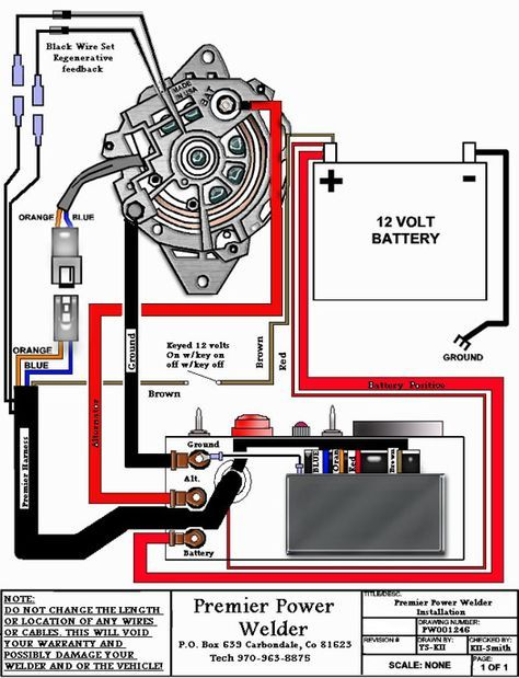 What's probably happening is you are getting the command from your welder  control to power up for welding. Descri… | Car alternator, Automotive  mechanic, AlternatorPinterest