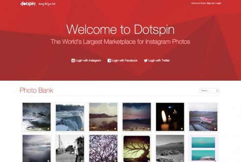 Hochwertige und kostenfreie Bilder – Dotspin. (Screenshot: dotspin.com)