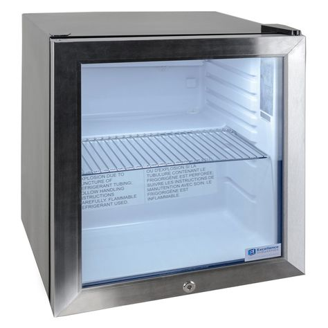 Excellence Emm 2hc Black Countertop Display Refrigerator With