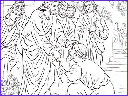 Jesus Heals The Blind Man Coloring Pages 46 Jesus Heals Blind