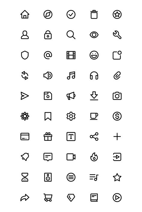 First chop icon pack, designed especially for creating unique feeling interfaces, websites, mockups, and illustrations. Icons are set into a grid with editable vectors paths. Ui Ux Design, Interface Design, App Icon Design, Design Websites, Logo Design Inspiration, Mobile App Design, Mobile Ui, Cute App, Iphone Layout
