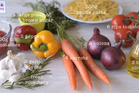 Five vegetable pasta sauce