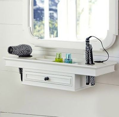 Wall Mounted White Small Dressing Table Ideas For Small Bedroom