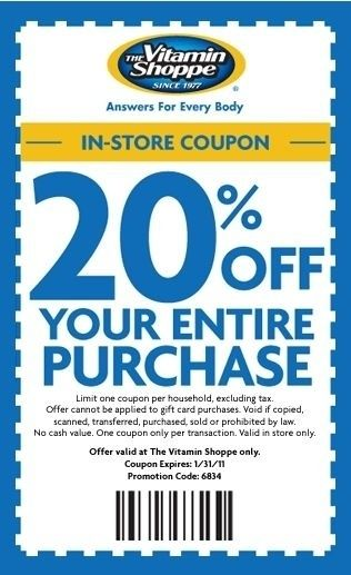 picture regarding Vitamin Shoppe Printable Coupon called Vitamin Shoppe Coupon Codes Coupon Female Within Vitamin Shoppe
