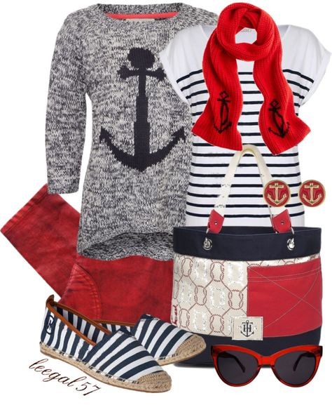 """""""Anchors Away!"""" by leegal57 ❤ liked on Polyvore"""