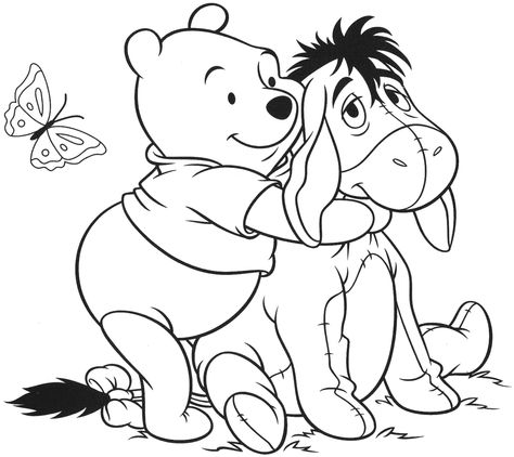 Winnie The Pooh And Eeyore Coloring Page Free Printable Desenhos