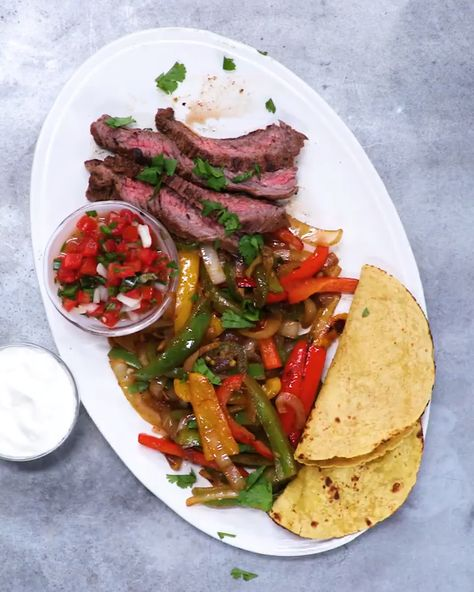 Best #Steak #Fajitas #beeffajitarecipe Better than anything you could order at a restaurant, promise
