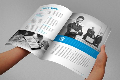 Annual Report Brochure Indesign Template by Braxas Mora, via - free annual report templates