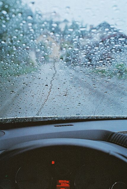 .That one day when all it did was rain and we sat in the car staring at it - Misty
