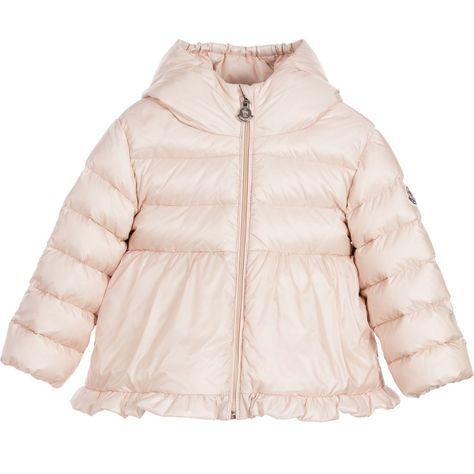828ece7766e0 Moncler Baby Girls Pale Pink Down Padded  Odile  Jacket at ...