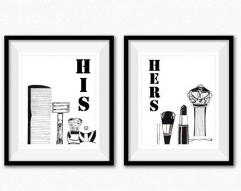 Image Result For His And Her Bathroom Bathroom Art Prints Bathroom Decor Pictures For Bathroom Walls