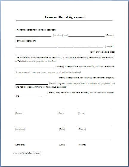Image Result For Rental Agreement Print Out Rental Agreement Templates Lease Agreement Free Printable Lease Agreement