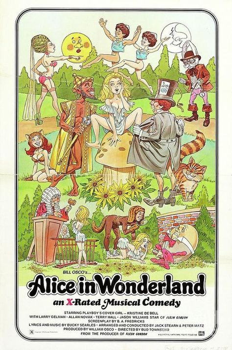 Classic Movie Poster - Alice In Wonderland Adult by Esoterica Art Agency
