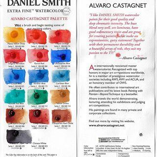 Daniel Smith Primatek Watercolor Chart Rare Earth Mineral Colors