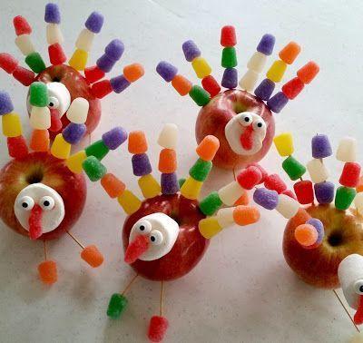 Diy Edible Thanksgiving Turkey Table Decorations Thanksgiving