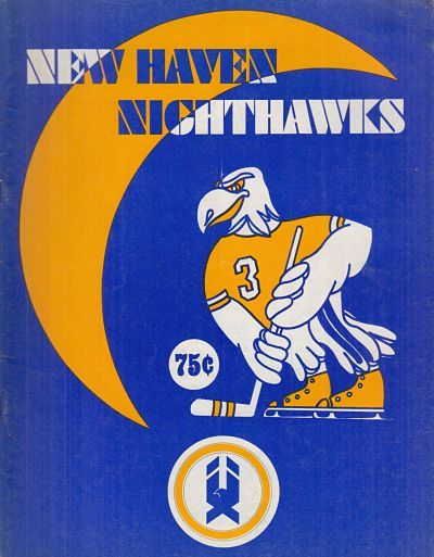 1977 78 New Haven Nighthawks Program Hockey Logos Art Hockey