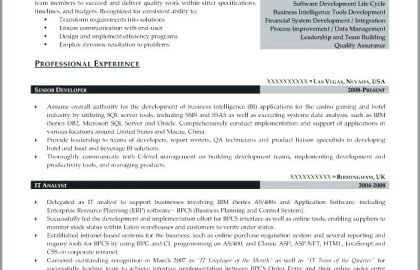 Business Intelligence Analyst Resume and Quality assurance ...