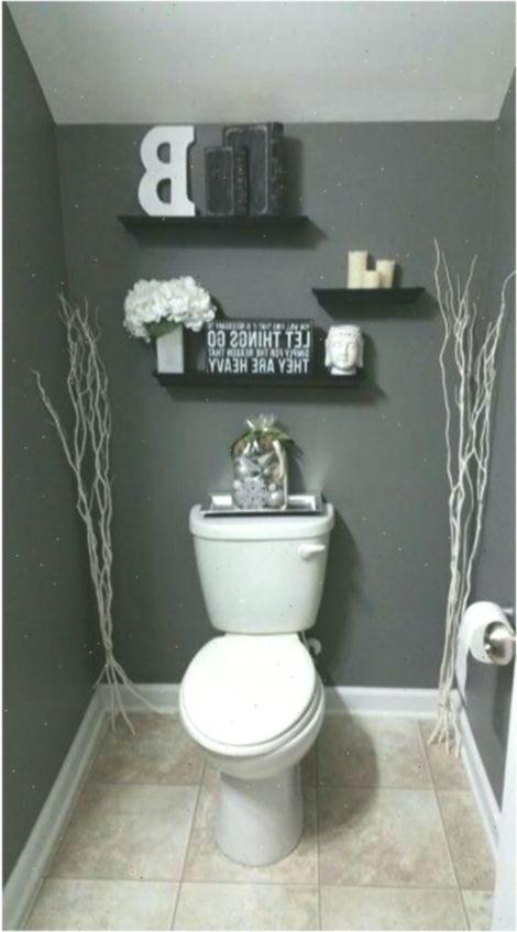 Gray Half Bathroom Decorating Ideas On A Budget 10