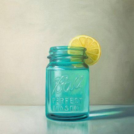 Vintage Tea Kettle Still Life Fine Art Oil Painting Archival Giclee Print by Artist Lauren Pretorius