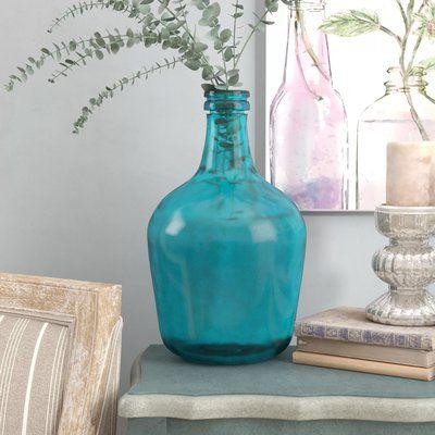 Parisian Bottle Glass Table Vase Floor Vase Decor Table Vases Floor Vase