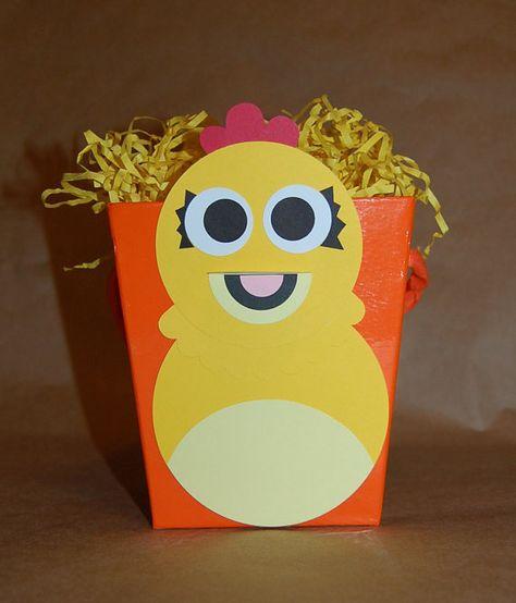 Chica the Chicken Inspired Favor Bucket or Centerpiece