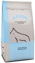 ARION Puppy Sensitive salmon&rice. Para cachorros de todas las razas y tamaño.  Beneficios: +Hipoalergénico: con salmón como única fuente de proteína animal y arroz como cereal sin gluten para evitar intolerancias y alergias alimentarias. +Hiperdigestible: formulado con ingredientes de altísima digestibilidad. +Extra omega3: piel sana y pelo brillante. Antiinflamatorio natural. +Antioxidantes naturales. +Aporte extra de zinc y biotina. Formatos--> 3kgs: 17,50€, 10kgs: 48,95€